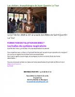 affiche les ateliers aromathérapie de Saint Quentin