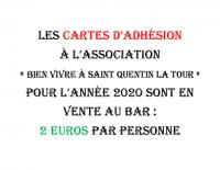 carte d'adhésion