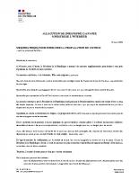 Allocution de Christophe Castaner ministre de l'intérieur _16_03_2020