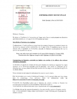 INFORMATION MUNICIPALE DU 20 MARS 2020