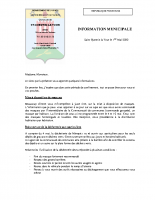 2020.05.01 INFORMATION MUNICIPALE